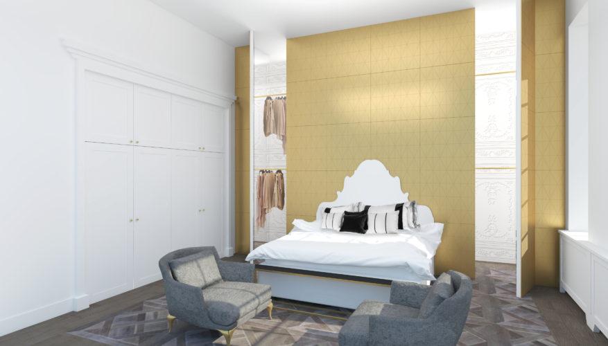 Camera da letto. Piccadilly Circus, London, 2018 | maii-interiors.com