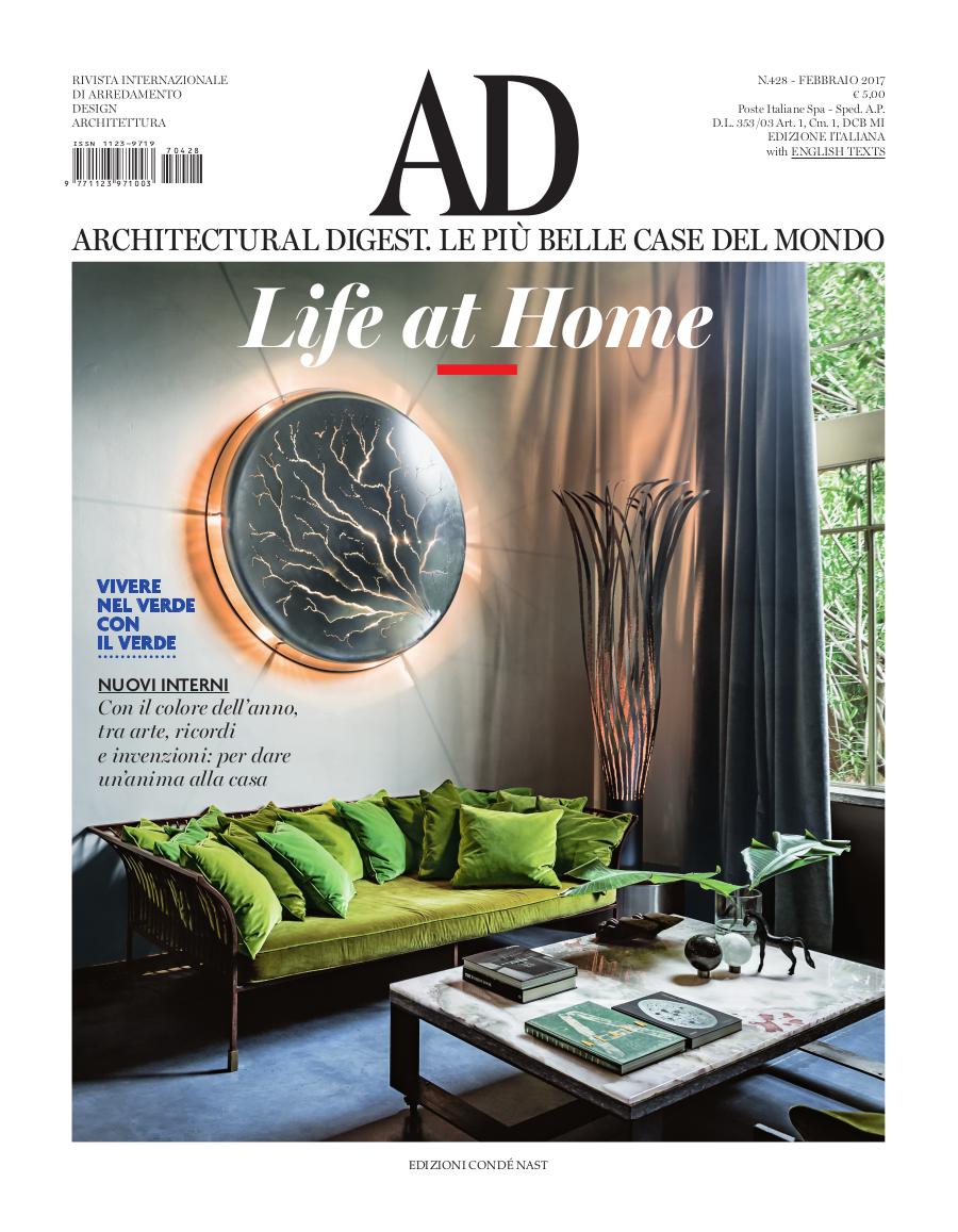 Pagina giornale, Architectural Digest, Italia | maii-interiors.com
