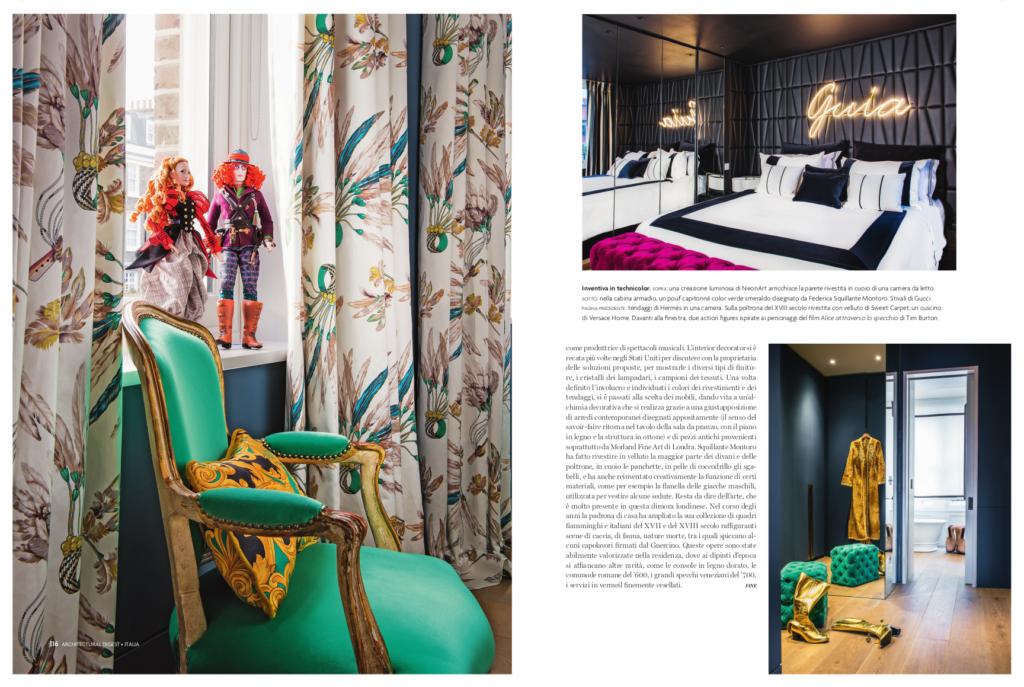 Pagina giornale, Architectural Digest, Italia | maii-interiore-com