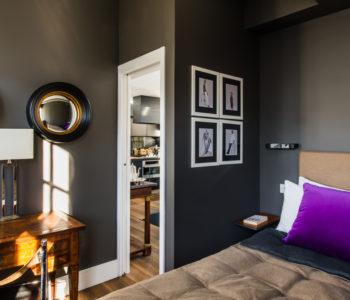 Camera da letto. Notting Hill, Londra. 2015, foto di Xavier Béjot | maii-interiors.com