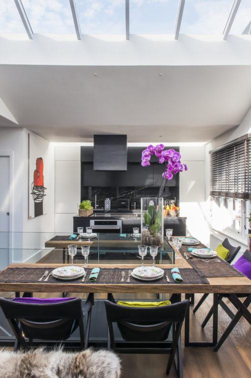 Tavolo da pranzo. Notting Hill, Londra. 2015, foto di Xavier Béjot | maii-interiors.com