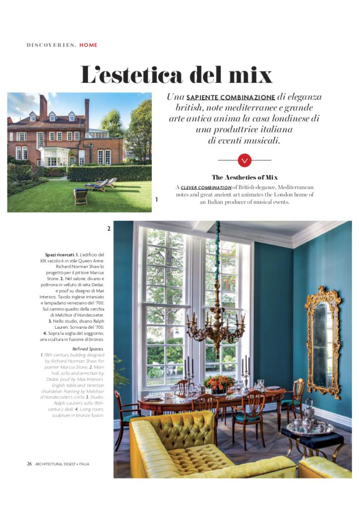 Maii Interiors Press Architectural Digest - Interior Design